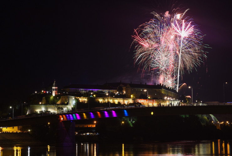 Novi Sad37 vatromet otvaranje exit festivala foto Nenad Mihajlovic