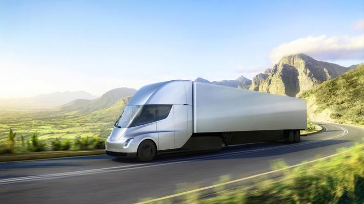 Tesla Motors Semi Truck Unveiled