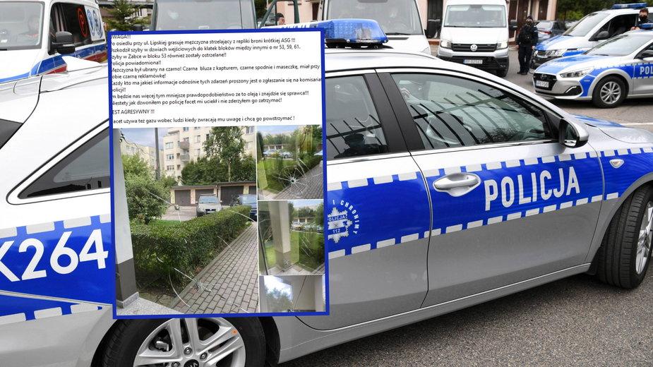 Jeden z bloków przy ul. Lipskiej w Krakowie został ostrzelany