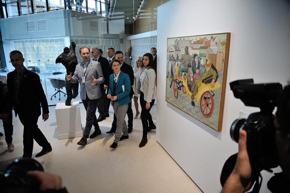 Premijerka Ana Brnabić na otvaranju Muzeja savremene umetnosti