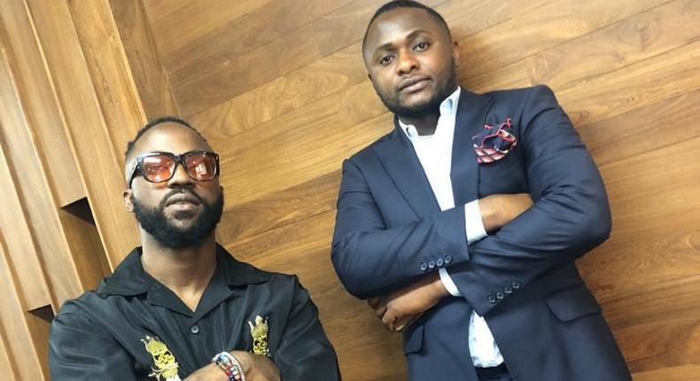 Nigerian music star Inyanya and music mogul Ubi Franklin [Pulse]