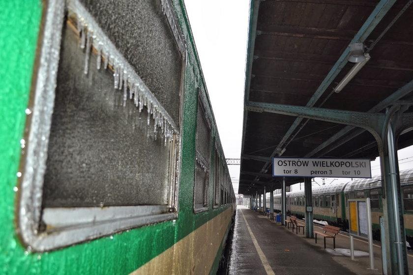Tak wyglądały oblodzone pociągi