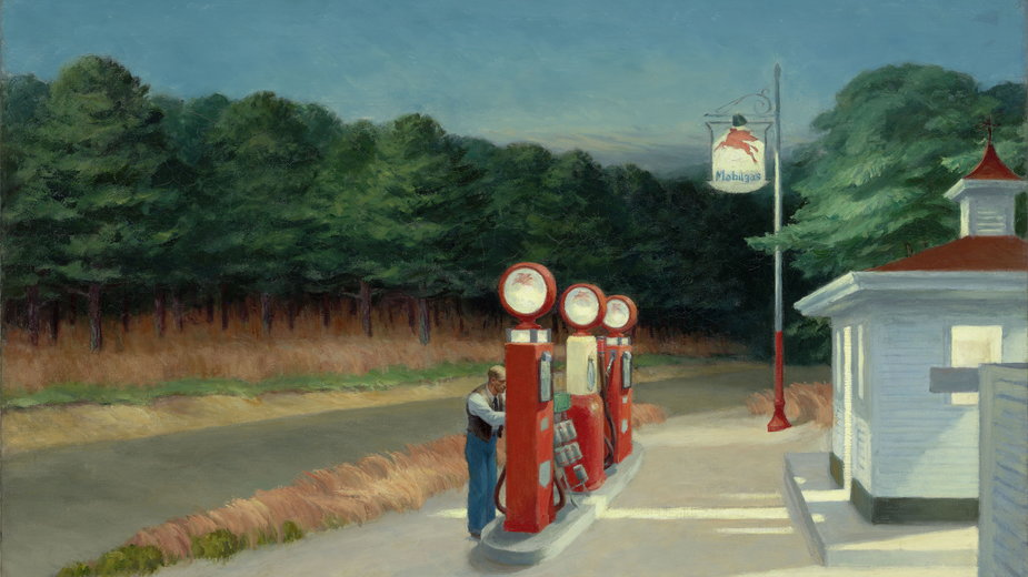 "Edward Hopper, ""Gas"" (1940"""
