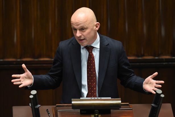 Minister finansów Paweł Szałamacha podczas posiedzenia Sejmu.