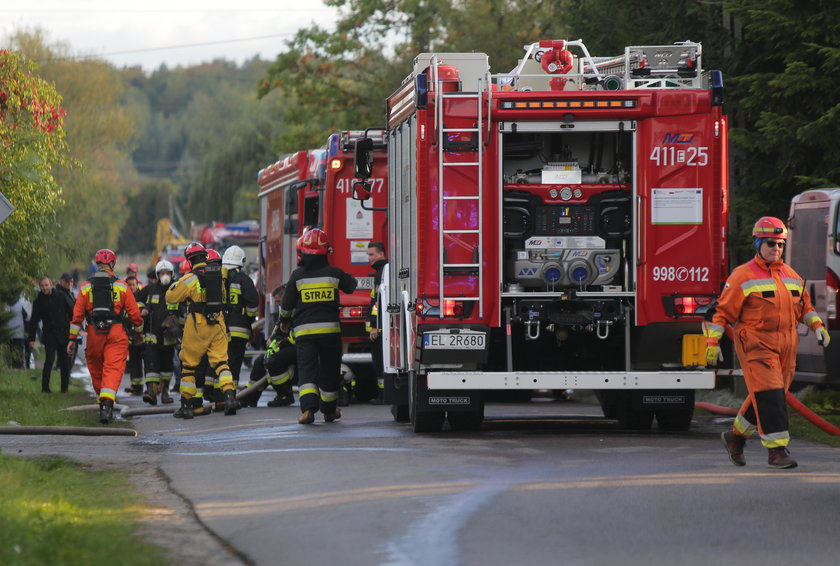 Wybuch gazu w Janówce pod Łodzią