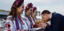 Andrzej Duda beż żony na Ukrainie