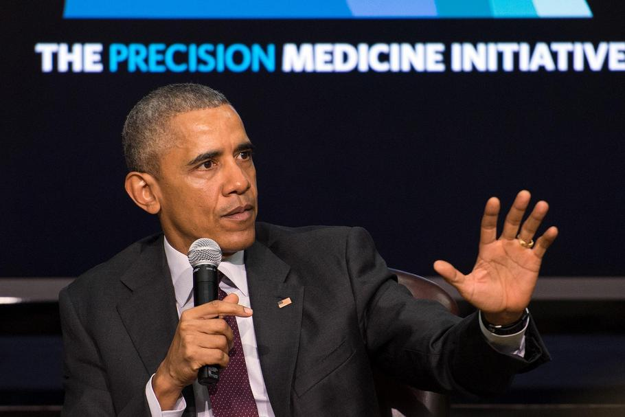 U.S President Barack Obama at White House Precision Medicine Initiative Summit