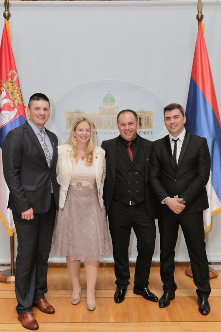 Ivan Lazović, Milica Marčeta, Slavko Karić i Branko Spajić