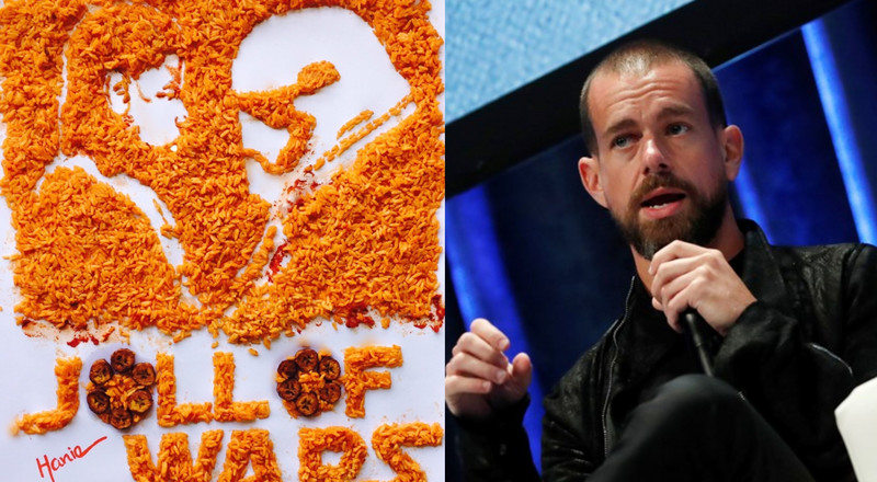 Twitter CEO Jack subtly chooses Ghana Jollof over Nigeria Jollof and Nigerians are going gaga