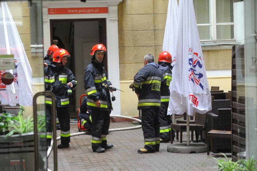 Pożar w kamienicy na ul. Bagatela