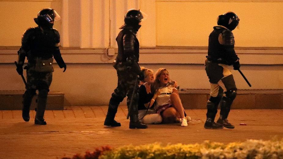 Protesty po wyborach na Bialorusi