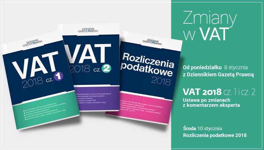 Zmiany w VAT 2018