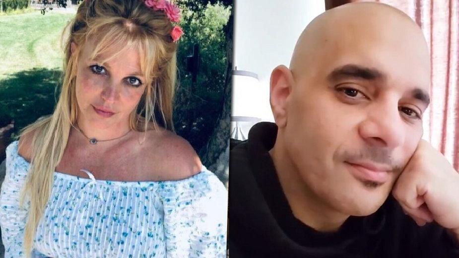 Sam Lufti otrzymał sądowy zakaz zbliżania się do Britney Spears (fot. Instagram/britneyspears)