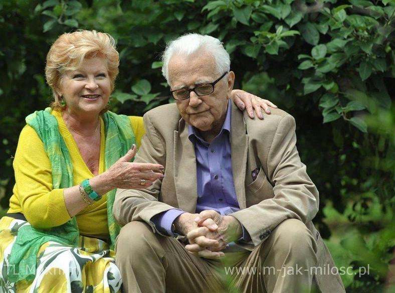 """Andrzej Łapicki i Antonina Girycz w """"M jak miłość"""""""