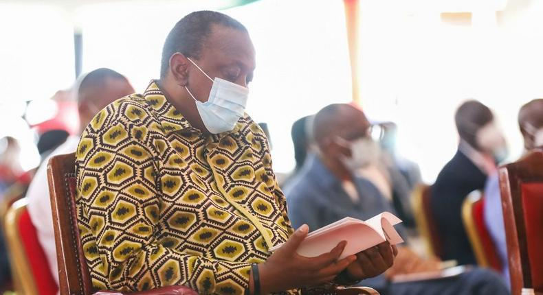 President Uhuru Kenyatta during the 2nd National Prayer Day, 2020
