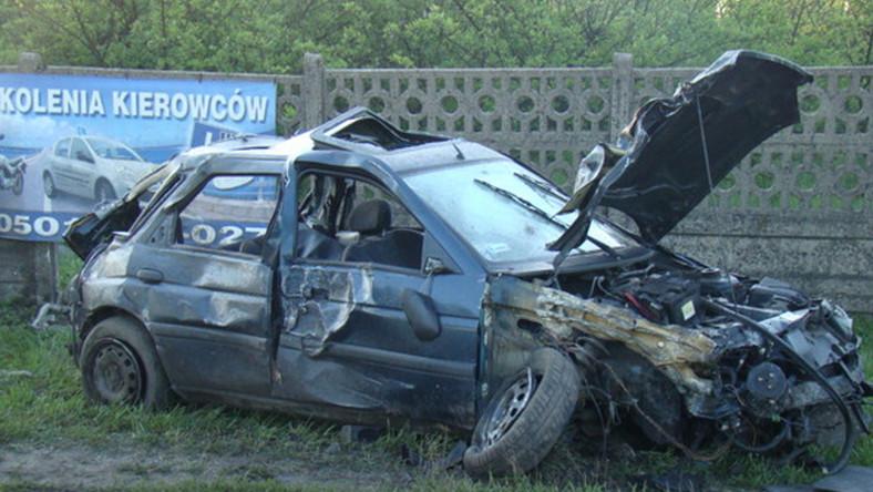 Makabryczny wypadek przepełnionego auta w Kaliszu