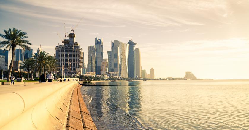 Krajobraz miasta Doha w Katarze
