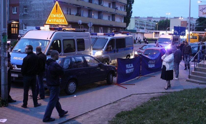 Wypadek w Warszawie ul. Ciołka
