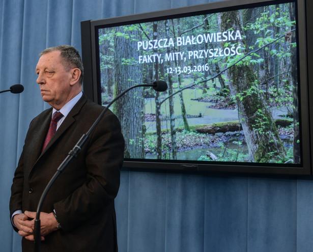 Minister środowiska Jan Szyszko, PAP/Jakub Kamiński