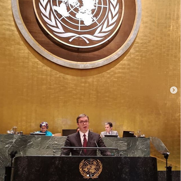 Aleksandar Vučić, UN, Ujedinjene nacije