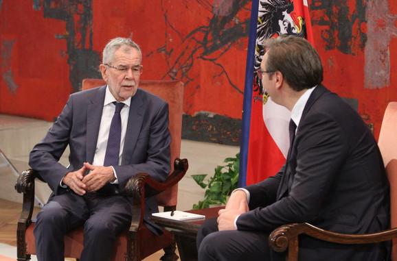 Aleksandar Vučić i predsednik Austrije Aleksander Van der Belen
