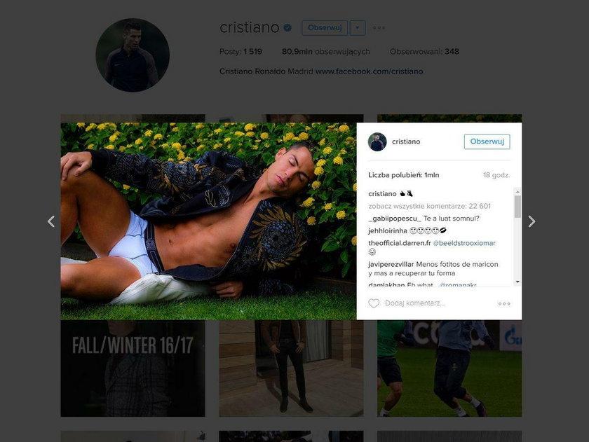 Cristiano Ronaldo pokazał się w majtkach. Kibice wyśmiali sesję piłkarza Realu Madryt
