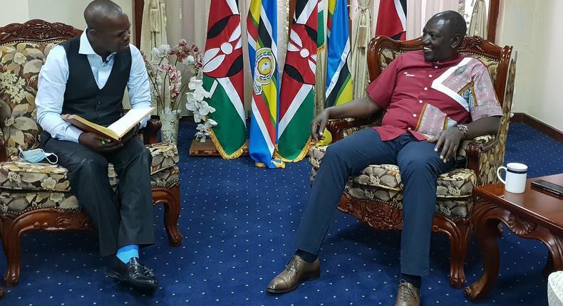 Vincent Ateya with DP William Ruto (Citizen)