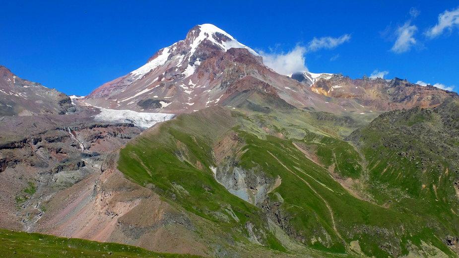 Kazbek - kaukaski szczyt, zdobywany głównie przez Polaków