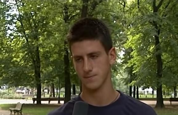 Novak Đoković u trenutku dok 2003. izgovara rečenicu
