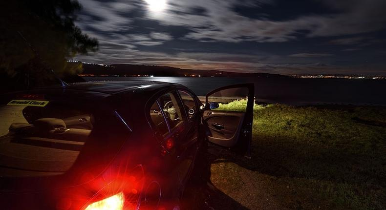 Parked In Seclusion - stock photo