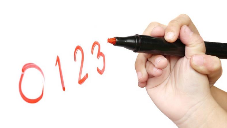 Nauka pisania cyfr
