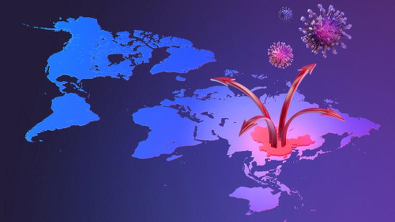 koronawirus mapa