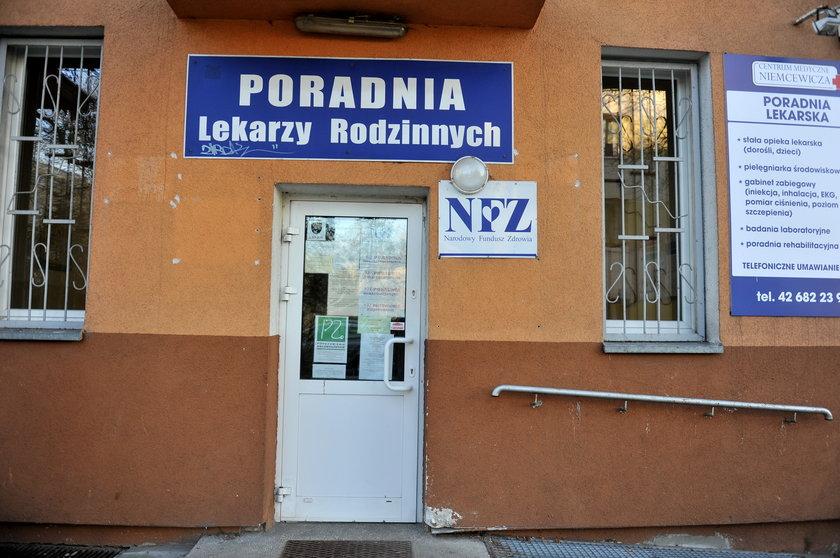zamknięta przychodnia POZ w Łodzi
