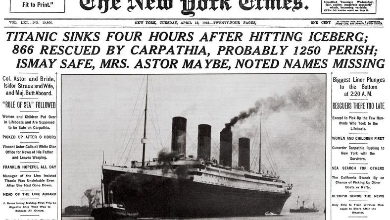 """""""New York Times"""" donosi: zatonął """"Titanic"""""""