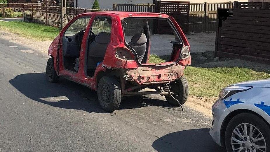 Samochód, który poruszał się pijany kierowca