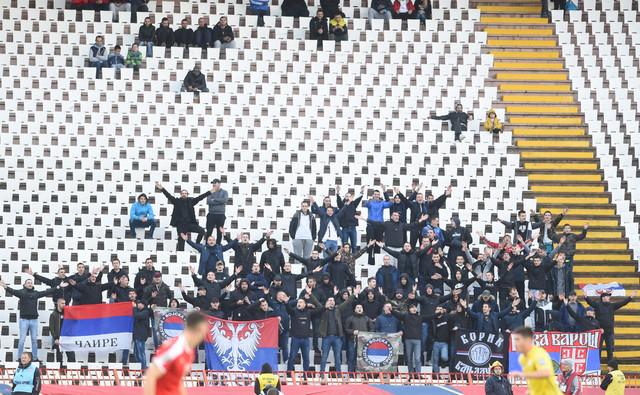 Navijači na meču Srbija - Ukrajina