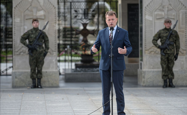Minister Błaszczak poinformował, że przyjechał do Kalisza z posiedzenia komitetu wojskowego sojuszu północnoatlantyckiego.
