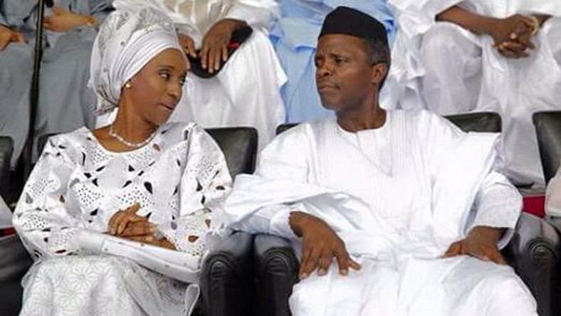 Vice President Yemi Osinbajo and wife, Dolapo