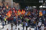 Italija protest radnici migranti izbeglice EPA FRANCO CAUTILLO