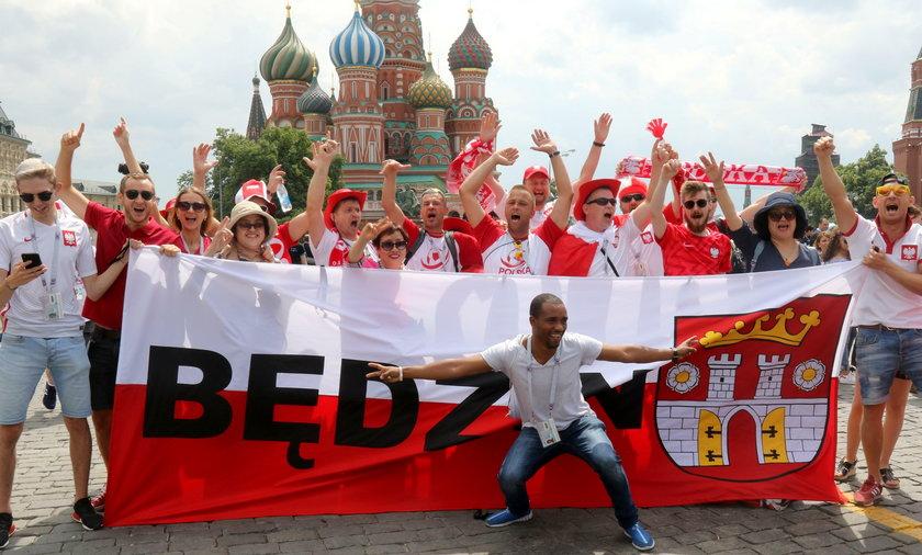 Mundial 2018 w Rosji: Plac Czerwony opanowany przez polskich kibiców