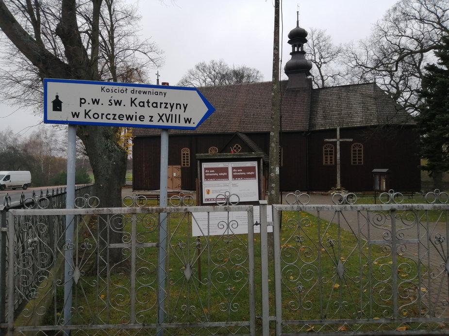 Kościół pod wezwaniem św. Katarzyny w Korczewie w powiecie zduńskowolskim
