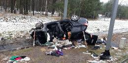 Rodzinna tragedia na A4! Kierowca nie żyje, pasażerka z dzieckiem w szpitalu