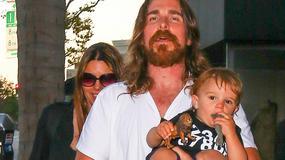 Christian Bale z rocznym synkiem