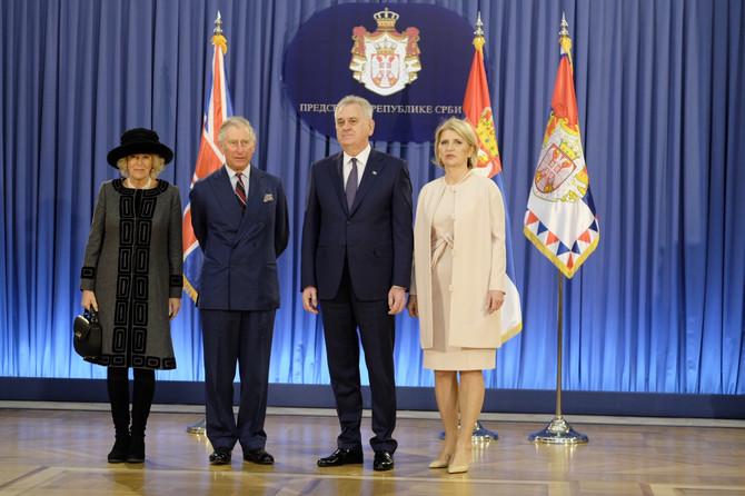 Princ Čarls i Kamila sa predsednikom Srbije Tomilavom Nikolićem i Dragicom Nikolić