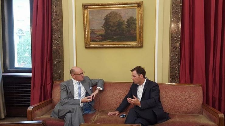 Ambasador Arne Sanes Bjernstad i gradonačelnik Siniša Mali