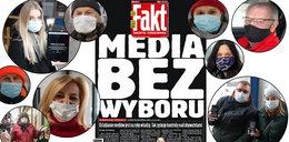 """Akcja """"Media bez wyboru"""" porusza Polskę i świat. Trudno żyć bez ulubionej gazety czy telewizji"""