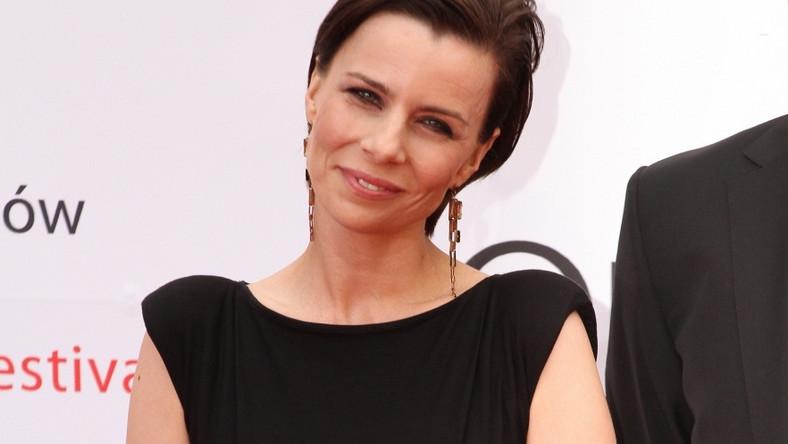 Agata Kulesza pojawiła się na gali 36. FPFF w Gdyni w oryginalnej kreacji.