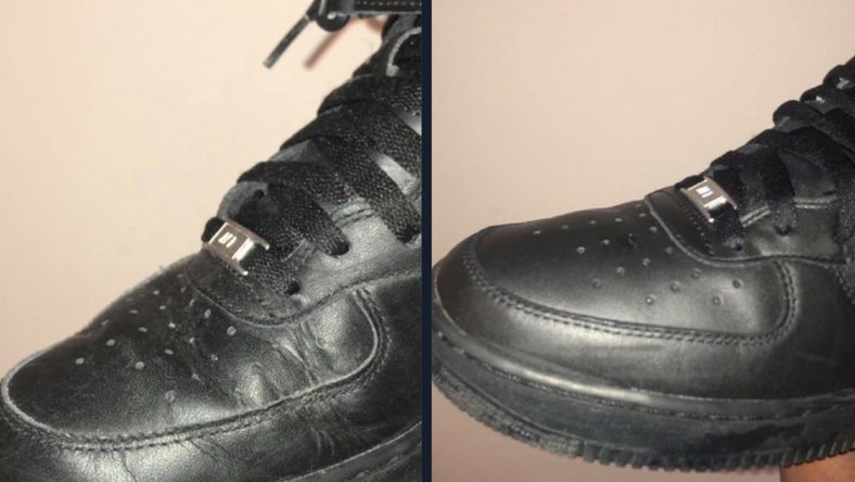 How to remove sneaker creases (Twitter @GyasiDenzel)