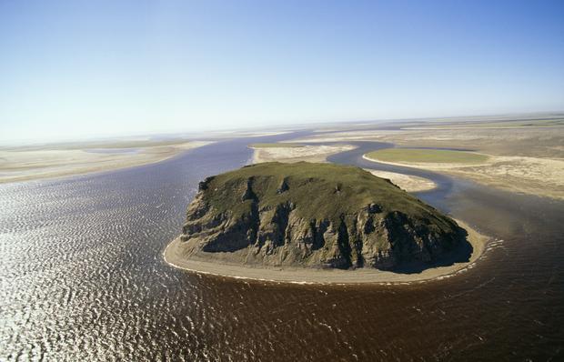 Wyspa na rzece Lenie