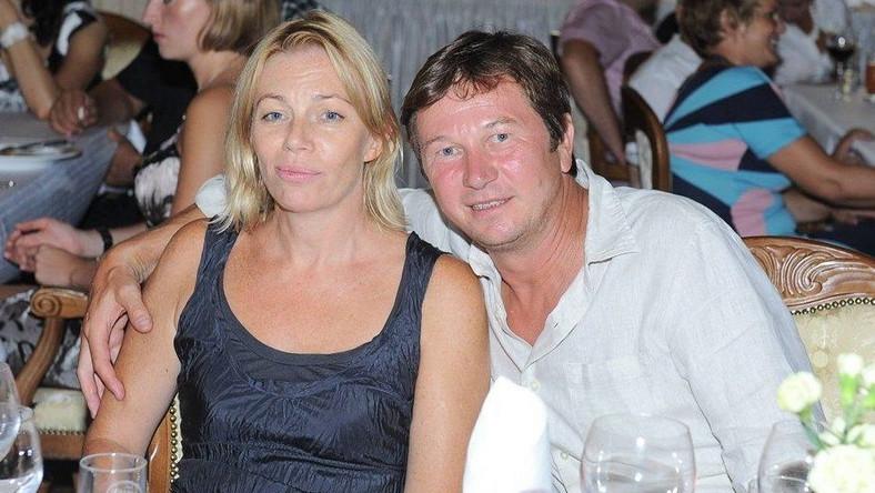 Piotr Cyrwus z żoną